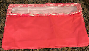 """Rare Thirty One Under the Bed Storage Bag Pink Cross Pop 5.5"""" H X 21.5 W X 14"""" D"""