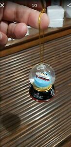 6 Pack Mini Titanic Museum Snowglobe Ornaments.