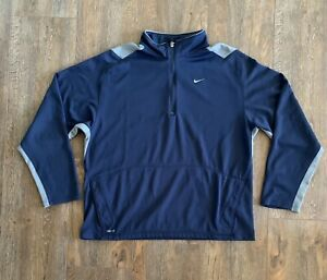 Nike Fit Dry Mens Half Zip Pullover Long Sleeve Athletic Top Size XL $19.99
