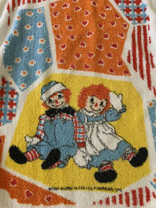 Vntg Raggedy Ann amp; Andy Hand Towel amp; Wash Cloth Pacific Signature Towels Co $14.00