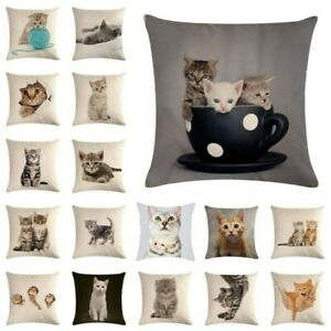 Printed Home Waist Cushion Throw Decor Sofa Car Linen 18quot; Cat Case Cover Pillow $2.83