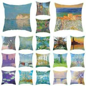 Vintage Tree Sofa Home Cover Floral Linen Throw Square Cushion Decor Pillow Case $2.83