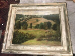 1927 Oil Framed Painting On Canvas Landscape signed J.T. Chabot 20quot; x 16quot; $299.00