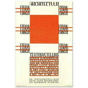 RE Society quot;Architectuur F.L. Wrightquot; Hand Pulled $160.00