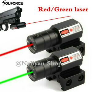 US Red Green Dot Laser Sight For 11 20mm Picatinny Rail Rifle Weaver Hunting