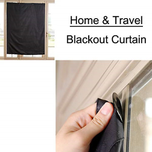TOGRAND Temporary Portable Blinds Blackout Curtain Shade Adjustable Size with at