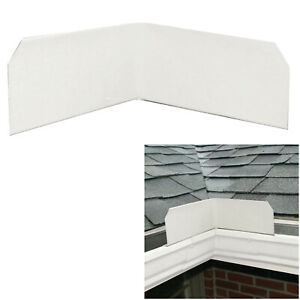 3 or 6 Pack Aluminum Roof Valley Splash Shield Gutter Guard in White $19.99