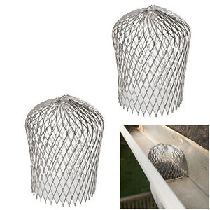Universal Aluminum Leaf Gutter Strainer Guard Basket Downspout Adapter Filter $12.99