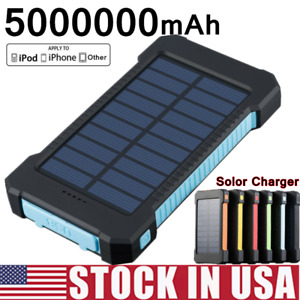 New 2000000mAh Portable Solar Power Bank Backup Battery Charger for Mobile Phone $15.99