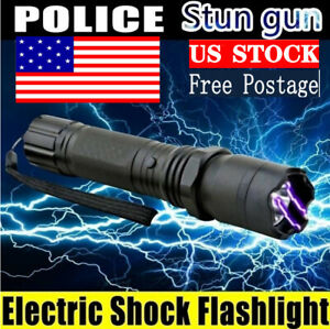 LED Torch Flashlight USB Portable Electric Shock Rechargeable Lamp Waterproof US $14.99