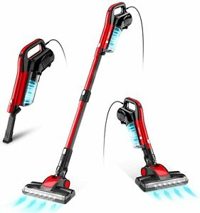 GeeMo 17Kpa Suction Vacuum Cleaner 4 in 1 Stick Vacuum LED Electric Brush Red US $39.99