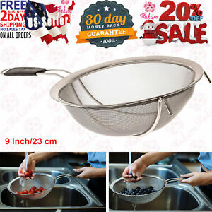 LiveFresh Large Stainless Steel Fine Mesh Strainer With Reinforced Frame And 9 $26.93