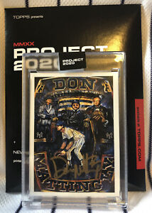 """Don Mattingly Signed Topps """"Project 2020"""" Andrew Thiele Card #118 Yankees $75.00"""