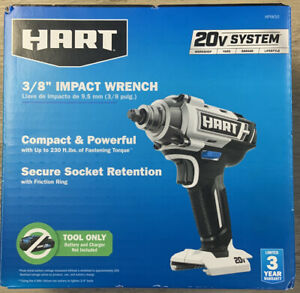 HART 20 Volt Cordless 3 8 inch Impact Wrench Tool Only HPIW50 $57.99