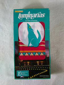 Vintage 1992 Candle Luminarias 10 Bags Southwest Coyote Design Decoration