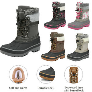 Kids Boys Girls Toddles Insulated Waterproof Mid calf Winter Warm Snow Boots $25.64
