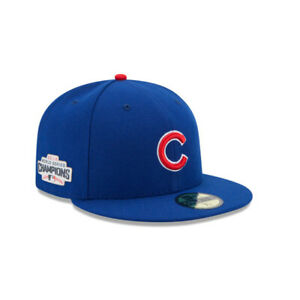Chicago Cubs MLB New Era 59FIFTY 2016 World Series Champs Fitted Hat Blue