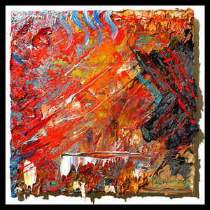 MODERN ORIGINAL OIL█PAINTING█VINTAGE█IMPRESSIONIST█ART REALISM SIGNED ABSTRACT A $340.00