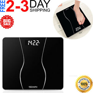 High Precision Digital Body Weight Bathroom Scale with Ultra Wide Platform and E $22.99