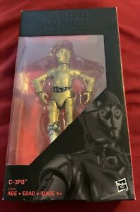 "Star Wars The Black Series C 3PO Exclusive Action Figure Silver Right Leg 6"" $19.95"