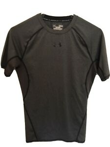Under Armour Gray Compression Shirt Short Sleeve Heat Gear Men's Size Medium $7.99