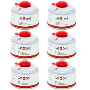 100 g Isobutane Camping Fuel Blend Canister 6 Pack Convenient All Season Fuel