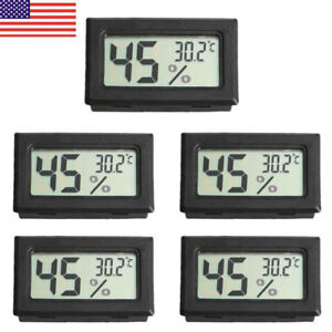 US Digital Home Indoor Temperature Humidity Meter Thermometer Hygrometer 5pcs $11.99