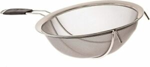 Large Stainless Steel Fine Mesh Strainer with Reinforced Frame and Sturdy Rubber $23.95