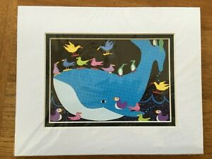 quot;Sea amp; Airquot; Carolee Pollock Lithograph Print Alaskan Artist matted 8x10 $35.00