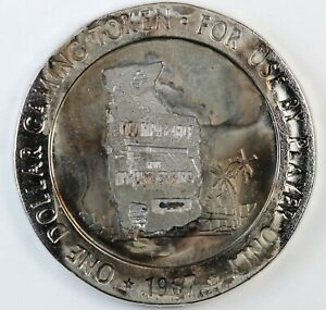 Thunderbird Hotel Las Vegas One Dollar Gaming Token 1967 For Use By Player Only