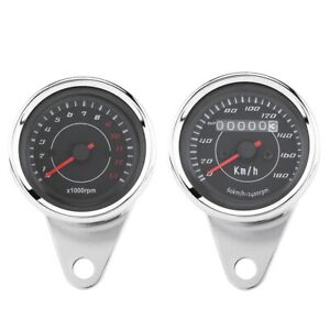 Motorcycle Tachometer Universal Motorcycle LED Backlight Instrument Speedometer $37.27
