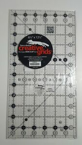 6.5quot; x 12.5quot; Creative Grids NEW QUILT RULER Gripper Dots Block Strips Class Size $15.74
