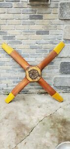 Vintage 4 Blade Wooden Airplane Propeller 60quot; $599.99