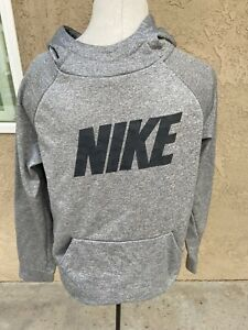 Nike DRI Fit LOGO Boys Hoodie Gray NWOT Large $25.50