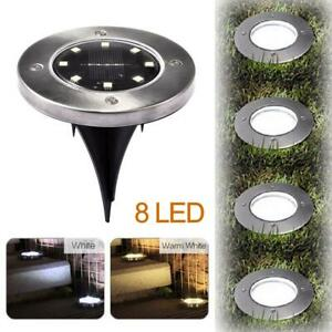 8 LED Solar Power Light Outdoor In Ground Lawn Pathway Waterproof Lamp $12.99