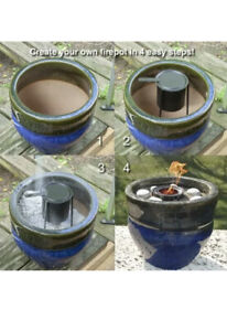 Echoflame Metal Outdoor Tabletop Firepot Kit Non combustible fillable container $14.99