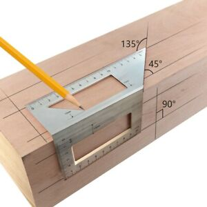 Aluminum Woodworking Scriber T Ruler Multifunction 45 90 Degree Angle Ruler US $14.71