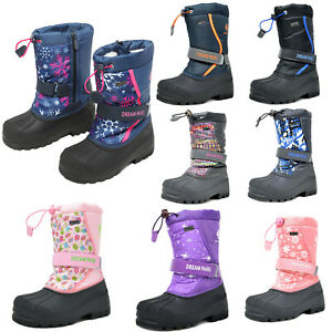 Big Kids Boys Girls Toddles Snow Boots Insulated Winter Mid Calf Ski Boot $26.59