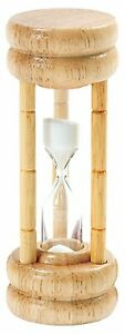 Norpro 3 Minute Timer Hourglass Egg Game Timer Natural Wood Base With Glass 1473