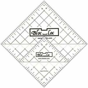 Bloc Loc Half Square Triangle Ruler Set #6 2.5#x27;#x27;And 4.5#x27;#x27; Acrylic Ruler $38.76