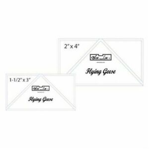 Bloc Loc Flying Geese Ruler Set 2 1.5#x27;#x27;X 3 2#x27;#x27;X 4#x27;#x27; $40.40