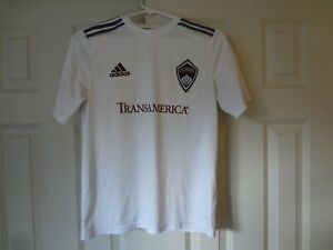 White Youth Large Colorado Rapids Soccer Jersey Number 10 $9.99