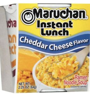 Maruchan Instant Lunch Cheddar Cheese Flavor Ramen Noodle Soup 24 Pack Cups $24.00