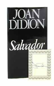 Joan Didion Salvador Signed Bookplate Laid in First Edition 1983 $75.00