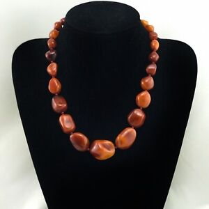 Natural Amber necklace antique from Denmark baltic amber 54g $1699.00