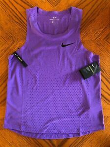 NWT Nike Running Singlet Tank Top AeroSwift Mens SMALL Purple Free Shipping $59.99