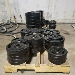 2 Olympic Weight Plates Rejects American Made PAINT DEFECTS LIMITED SUPPLY $39.20
