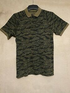 Carhartt WIP Men#x27;s Camouflage Polo Shirt Size S