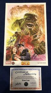 Incredible Hulk Alex Ross Print Signed by Stan Lee w COA amp; Alex Ross ONLY 200 $250.00