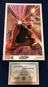 Amazing Spider Man Alex Ross Print Signed Stan Lee w COA amp; Alex Ross ONLY 200 $250.00